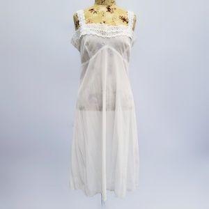 Vintage handmade white slip!